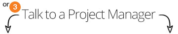 Infographic video 'book a project manager' image